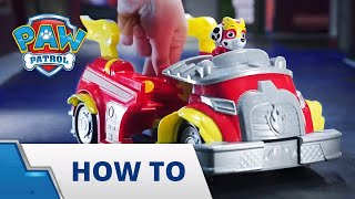 PAW Patrol | How to Play | Mighty Pups Power Changing Vehicle | PAW Patrol Official & Friends
