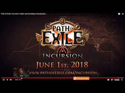 PATH OF EXILE 3.3 INCURSION LEAGUE FIRST LOOK | Demi 'Splains