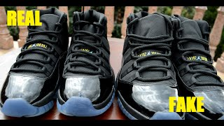 SIDE BY SIDE Air Jordan 11 XI Retro GAMMA BLUE REAL VS FAKE COMPARISON RECENT!!!