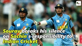 Watch: Sourav Ganguly breaks his silence on Sachin Tendulkar's responsibility to Indian Cricket