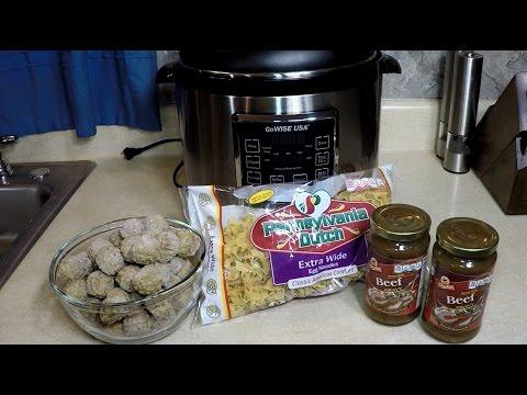 Pressure Cooker Swedish Meatballs Casserole Recipe