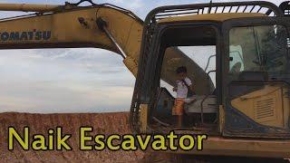 Naik Excavator Besar - Komatsu