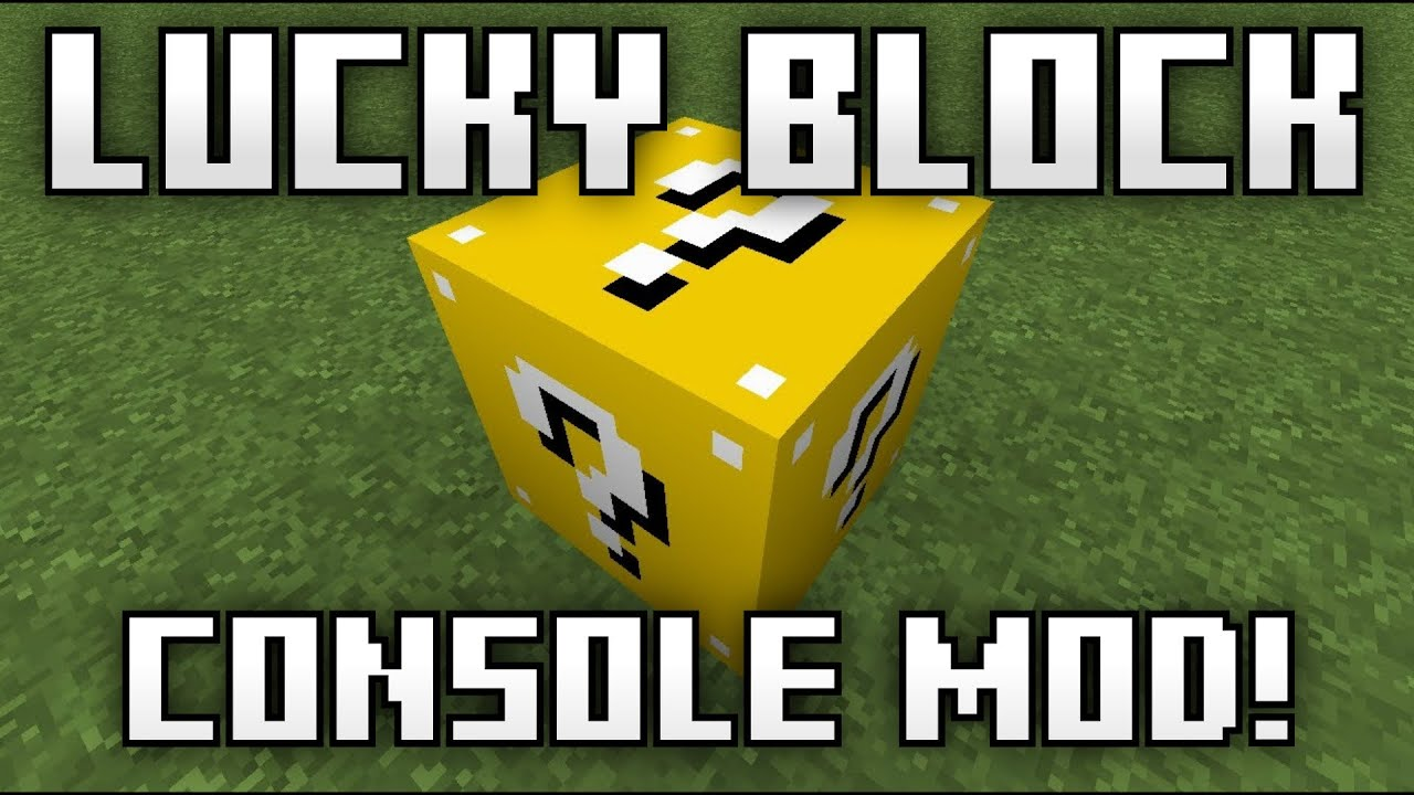 how to get the lucky block mod on xbox one