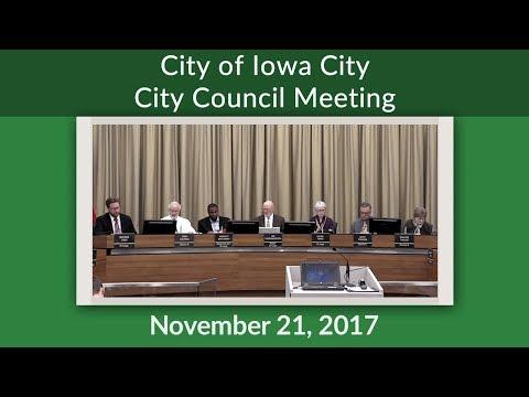 Iowa City City Council Meeting of November 21, 2017