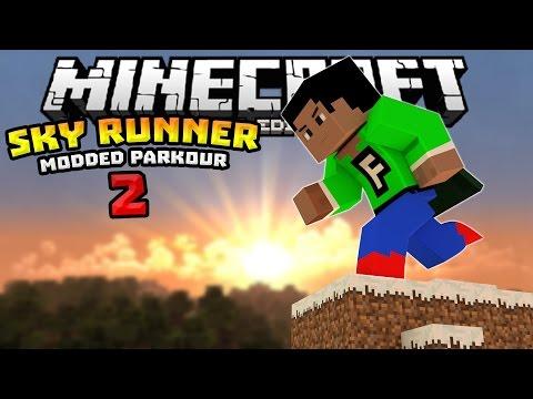 SKY RUNNER PART 2!!! - 0.13.1 Modded Minigame Map - Minecraft PE (Pocket Edition)