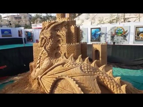 Thane Art Festival 2016 Part3 Sand art