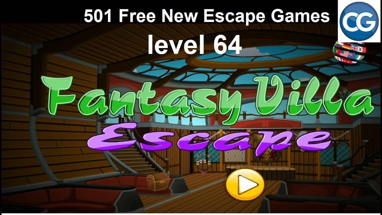 Walkthrough 501 Free New Escape Games Level 64 Fantasy Villa Escape Complete Game Youtube