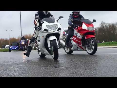 les motards en colère à Laval (Mayenne)