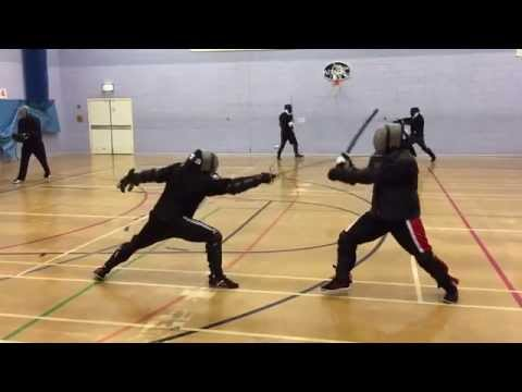 AHF Rapier vs Katana sparring - Nick vs Michael