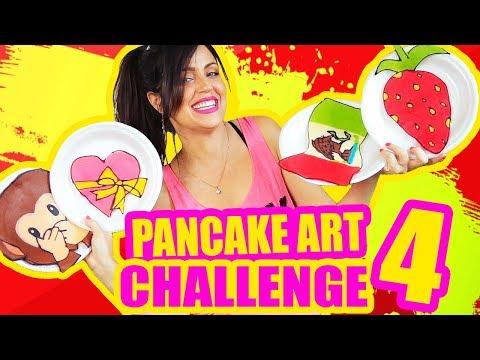 DIBUJANDO CON COMIDA! Emoji, Bandera de Mexico y MAS! Pancake Art Challenge RETO - SandraCiresArt