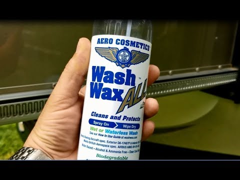 Waterless WASH WAX ALL for RV Washing and Waxing - How to Use and Review