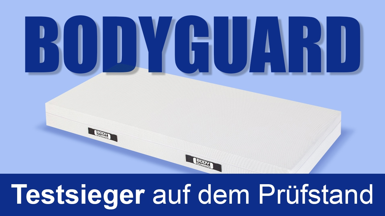 bodyguard matratze testsieger auf dem pr fstand youtube. Black Bedroom Furniture Sets. Home Design Ideas