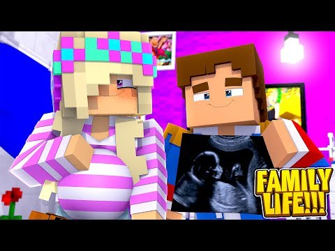 Minecraft FAMILY LIFE || LITTLE LEAH & LITTLE DONNY ARE HAVING A BABY!!!