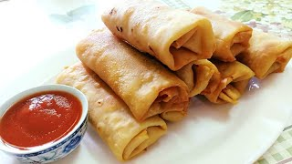 Suji Spring Roll Recipe|Veg Spring Rolls| Noodle Spring Rolls Recipe with Homemade Sheets using Suji