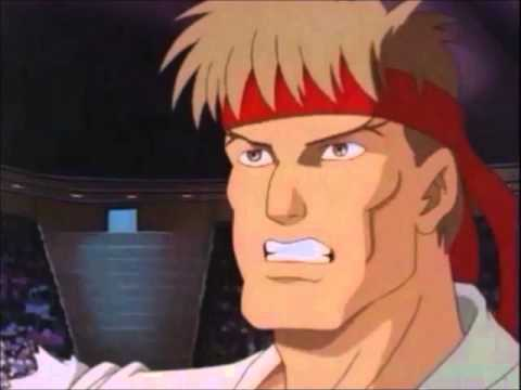 Street Fighter Cartoon Ken And Ryu Vs Blanka And Guile Wmv Youtube