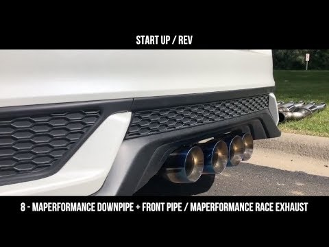 10th Gen Civic Exhaust Sound Clip Comparison | MAPerformance
