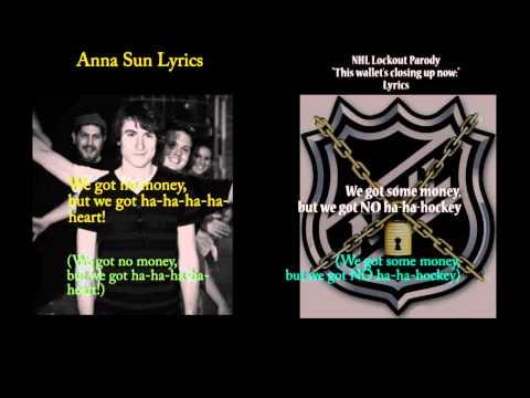Anna Sun karaoke with lyrics & NHL Lockout parody:This Wallets Closing Up Now