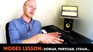 MODES LESSON: Dorian, Phrygian, Mixolydian, Lydian, & more