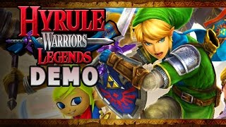 Hyrule Warriors Legends 3DS DEMO Part 1 Gameplay Walkthrough