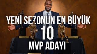 Yeni Sezonun EN BÜYÜK 10 MVP ADAYI! | LeBron, Curry, Luka, Kawhi, Giannis, Duran