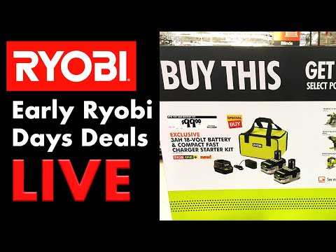 RYOBI DAYS 2019 - Early Deals Live At The Home Depot!