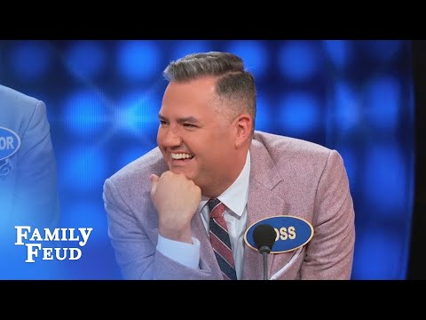 Maybe it's HYPHENATED? | Celebrity Family Feud