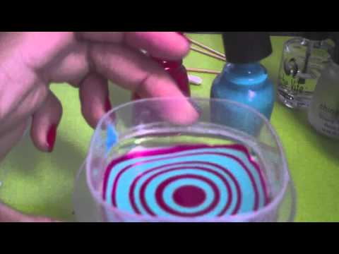 My First Water Marble Nail Art Tutorial Youtube