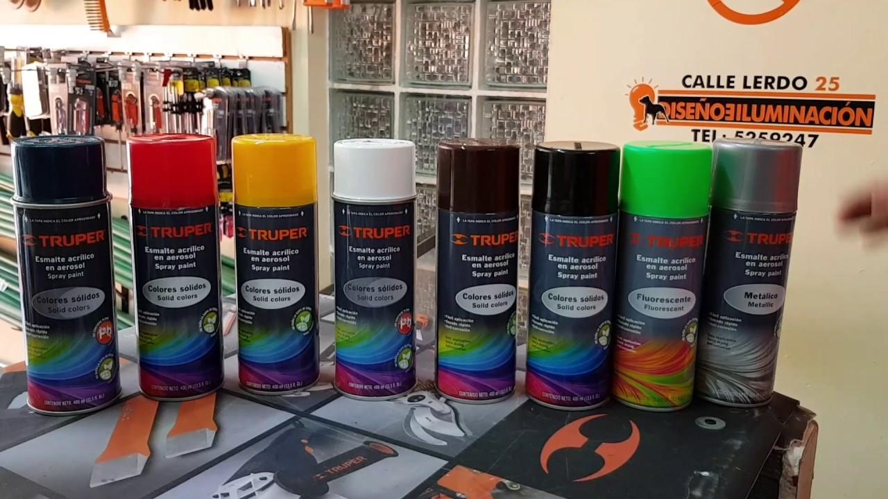 Pintura en aerosol color s lido fluorescente met lico y - Pintura con spray ...