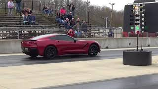 12.2 second C7 Corvette Stingray drag racing test pass Kilkare Dragway 2018