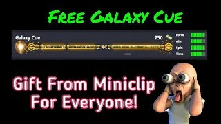 How To Get Galaxy Cue Free 2018 - 8 Ball Pool