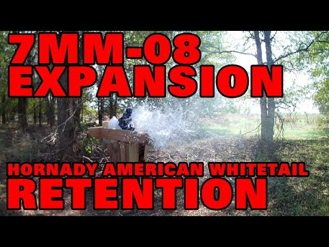 7MM-08 EXPANSION/RENTENTION HORNADY AMERICAN WHITETAIL