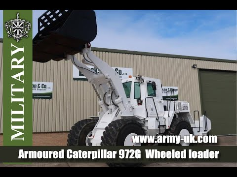 Armoured Caterpillar 972g Wheeled Loader For Sale Youtube