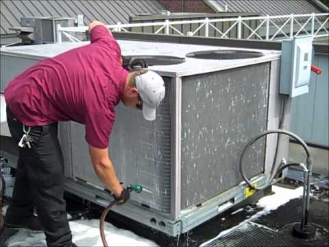 "HVAC ""Summer Energy Saving Tips""- Air Conditioner Condenser Coil Cleaning,"