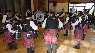 AYR PIPE BAND SOCIETY PERFORM AT SANQUHAR PIPE BAND COMPETITION 2019