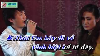 Karaoke Đường Tình Đôi Ngã Dương Ngọc Thái Ft Giáng Tiên