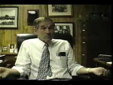Ron Paul - Honest Money, 1995 (Part 1 of 4)