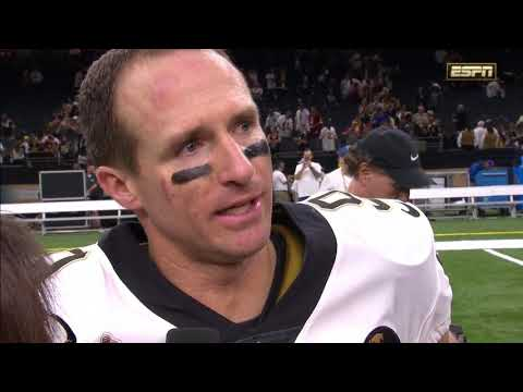 Drew Brees' Emotional Interview After Breaking All-Time NFL Passing Record