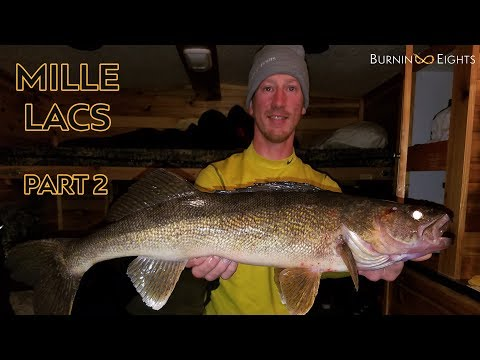 Stranded On Mille Lacs! Ice Fishing Big Blizzard Walleyes - Part 2