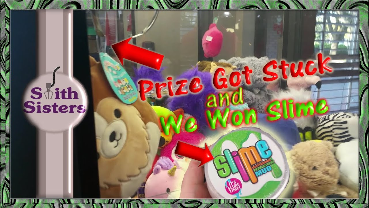 Arcade Claw Machine Wins (Squishmallows Prize Got Stuck) We Won More Slime!