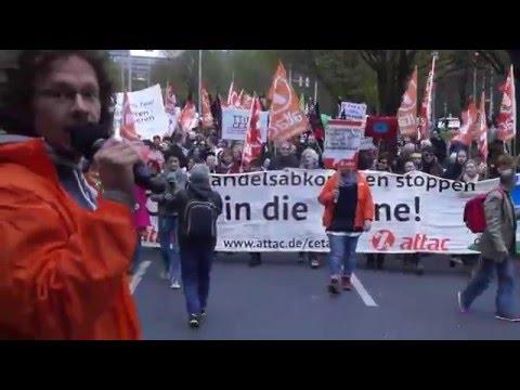 """Obama & Merkel kommen - Demonstration in Hannover: 90.000 fordern """"TTIP & CETA stoppen!"""" (23.4.2016)"""