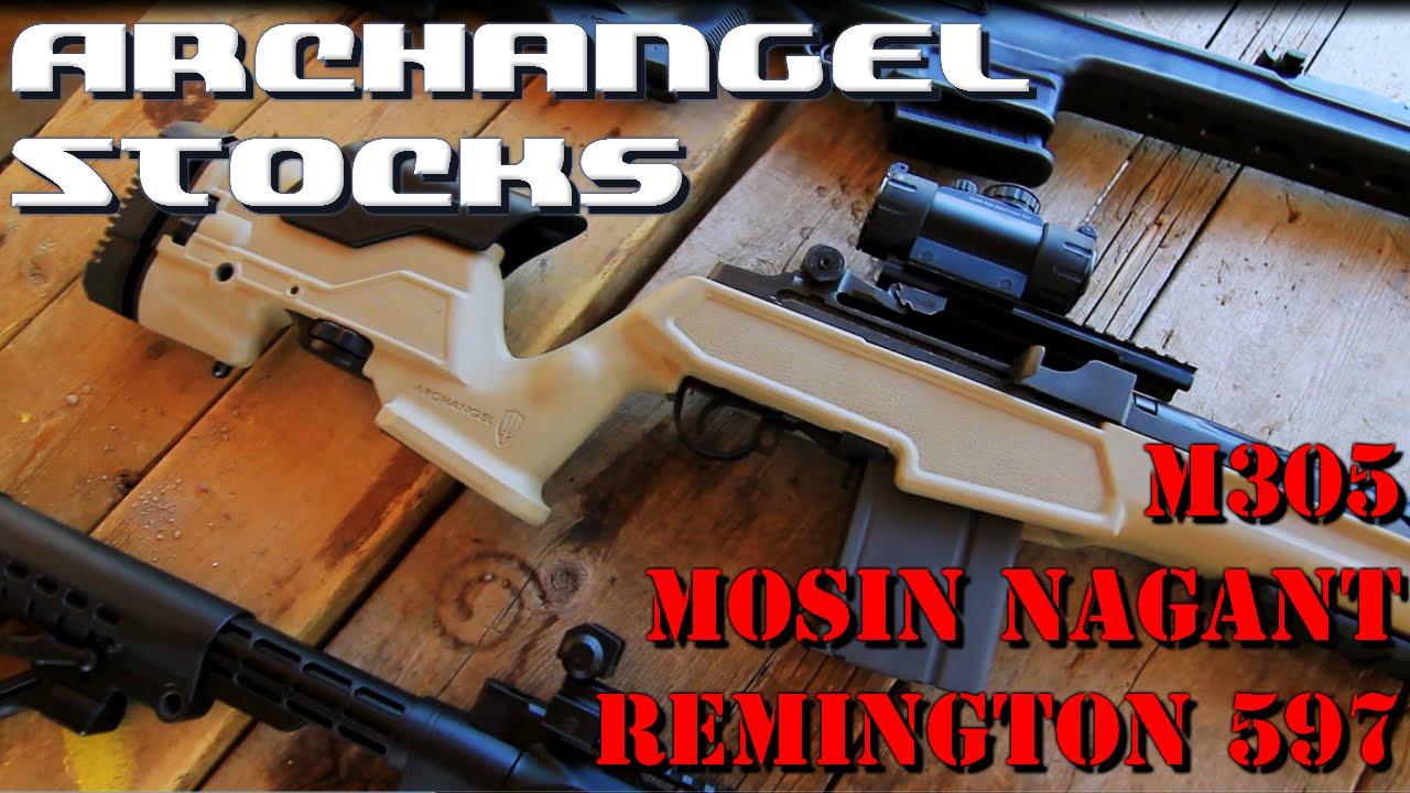 Archangel Stock Review - Mosin Nagant, Remington 597, Socom18