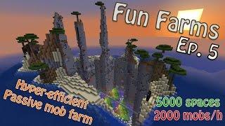 Minecraft - Hyper-Efficient, Passive (Peaceful) Mob Farm (Fun Farms Ep. 5)