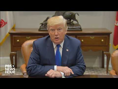 WATCH: President Trump addresses North Korea missile launch, tax plan in statement