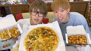 【幸せ】新作ピザをワクワクしながら楽しく幸せに食べるだけの動画です【大喜利】