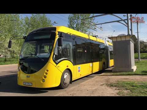 First trips by electric bus, Minsk, Belarus