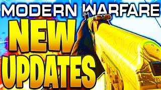 NEW MODERN WARFARE UPDATES! NEW GUNS, PERK BALANCE, KILLSTREAKS, MINI MAP/LOBBIES COD MODERN WARFARE
