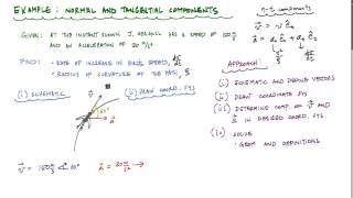 Normal and Tangential Components - Particle Kinematics Example 1 - Engineering Dynamics
