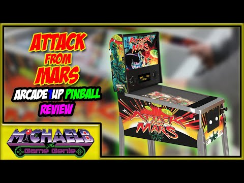 Attack From Mars Arcade1Up Pinball Review | MichaelBtheGameGenie from MichaelBtheGameGenie