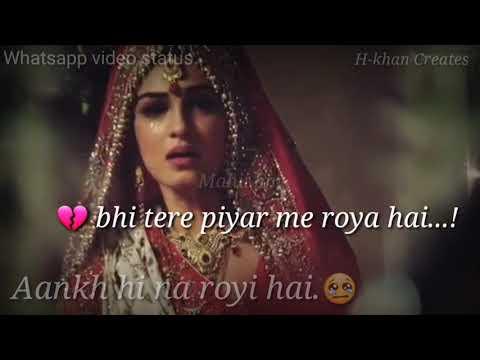 aankh hi na royi hai.whatsapp video status by hakim khan