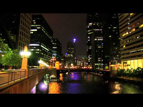 CHICAGO @ NIGHT REAL TIME JACKSON STREET BRIDGE SUNDAY SUMMER 20131080p